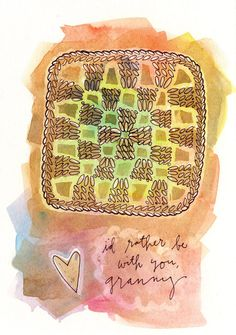 Granny squares can bring families together. <3