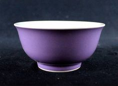 Buy online, view images and see past prices for Chinese Qing Porcelain Purple Glaze Bowl. Invaluable is the world's largest marketplace for art, antiques, and collectibles. Chinese Bowls, High Art, Plates And Bowls, Paper Weights, Asian Art, Glaze, Monochrome, Porcelain, Kitchen Things