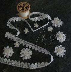 Handmade Lace Flowers.. Love.. and Making some! :)