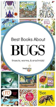 Perfect supplements for Zoology 1 and Best Children's Books About Bugs (Insects, Worms, and Arachnids) Preschool Books, Science Books, Science For Kids, Book Activities, Spring Activities, Educational Activities, Teaching Resources, Best Children Books, Toddler Books