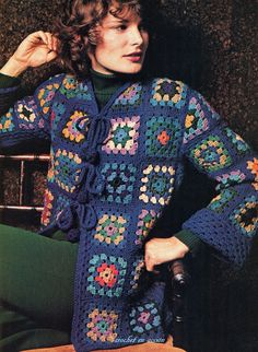 Crochet En Acción: Grannies retro fashion - Retro Granny Jacket - FREE ENGLISH PATTERNS