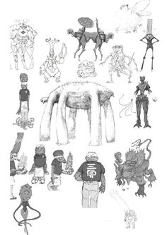 SPACE☆DANDY : Character Designs of aliens