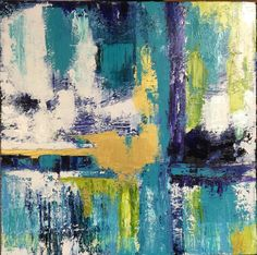 "paintings - by susan darnall  all about the blues greens & gold. From my ""Reflections"" series"