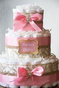Rosa y oro babyshower / princesa pastel de por LittleOrchidStudio                                                                                                                                                                                 Más