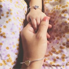 Obsessed with this bracelet set; need it for me and my girl! Mommy & Me Jewelry - Heart Bangle | Babes in Bracelets