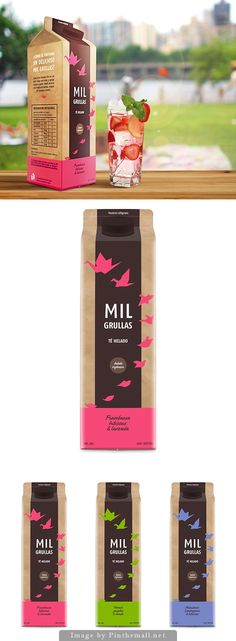 Mil grullas organic ice tea by Estefania Sorin. Pin curated by SFields99. #packaging