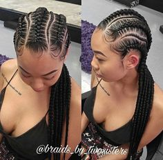 Hair Braids Styles Enchanting French Braids On Fleek Add A Bun  Black Hairstyles  Pinterest