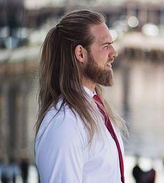 Lasse L. Matberg Guy Haircuts Long, Haircuts For Fine Hair, Hairstyles Haircuts, Straight Hairstyles, Cool Hairstyles, Hair And Beard Styles, Long Hair Styles, Style Hipster, Long Hair Cuts