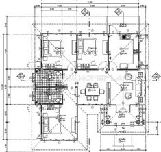 Minimalist House Design With Three Bedrooms And Two Bathrooms - Cool House Concepts Minimalist House Design, Minimalist Home, Bedroom House Plans, Bungalow, Facade, Home Goods, Bathrooms, Floor Plans, How To Plan