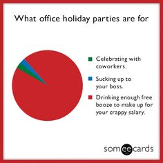 What office holiday parties are for.