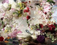"""isabellemenin: """" Paradise as something - 2014 Isabelle Menin Join me on… Abstract Photography, Fine Art Photography, Flower Prints, Flower Art, Art Flowers, Flowers Black Background, Mural Wall Art, Hand Art, Arte Floral"""