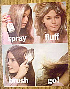 Vintage Ad: 1973 -  Psssst Instant Dry Shampoo   -  with Susan Dey. we always took it with on camping weekends