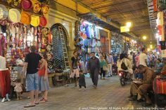 A market street full of action in #Marrakesh.