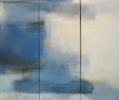 """Three Day life"" - a triptych by Jen Bradley. 36"" x 42 1/2"" Mixed media on canvas @ Emily Amy Gallery Atlanta"