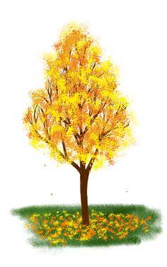 Новым годом, картинки осень деревья анимация