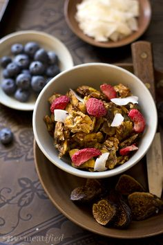 Finally, an AIP granola that hits the spot! This is chewy, crunchy, crispy and clustery, but made with grocery store ingredients & minimally sweetened.