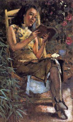 Women Reading - cihuanaba: Xu Beihong | Chinese Reading | 1943