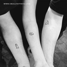 Jan 2020 - Matching Dinosaur Temporary Tattoo (Set of – Small Tattoos 3 Friend Tattoos, Small Matching Tattoos, Matching Best Friend Tattoos, Bestie Tattoo, Sibling Matching Tattoos, Matching Tattoos For Cousins, Small Best Friend Tattoos, Brother Sister Tattoos, Siblings Tattoo For 3