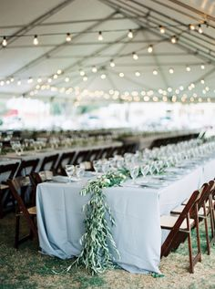 Gorgeous tented reception decor