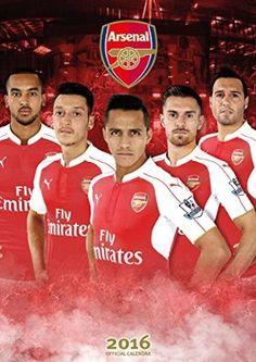 The Official Arsenal 2016 Calendar Arsenal Fc Players, Arsenal Football, Football Calendar, Theo Walcott, Jack Wilshere, Hector Bellerin, Football Quotes, North London, Ronaldo