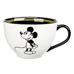 Disney Mickey Mouse ''1928'' Cappucino Cup | Disney StoreMickey Mouse ''1928'' Cappucino Cup - Animate your morning with Mickey's generously sized cappucino cup featuring charming period art from the roaring 20's, part of his 85th Anniversary celebration.