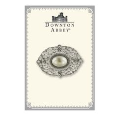 Downton Abbey® Boxed Silver-Tone Filigree and Simulated Pearl Brooch