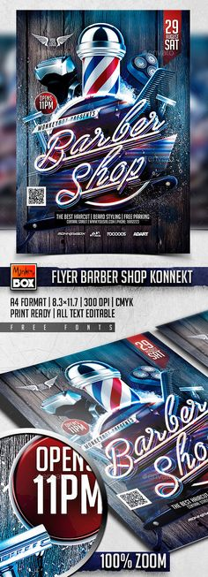 Buy Flyer Barber Shop Konnekt by MonkeyBOX on GraphicRiver.