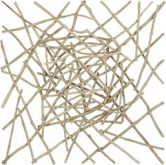 Sticks Wall Art  | Crate and Barrel | Would look great with vivid paint behind