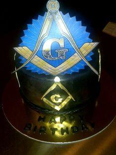 Masonic Symbol Cake