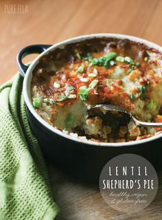 Lentil Shepherd's Pie : healthy, vegan and gluten-free