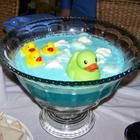 Baby Blue Punch Recipe - I made this with gal of blue Hawaiian Punch, 1 quart white cranberry juice, 1 liter of and 8 scoops of vanilla ice cream. Everyone loved the ducks floating on top! Baby Shower Punch, Baby Shower Drinks, Shower Party, Shower Gifts, Baby Boy Shower, Bridal Shower, Diaper Shower, Comida Para Baby Shower, White Cranberry Juice