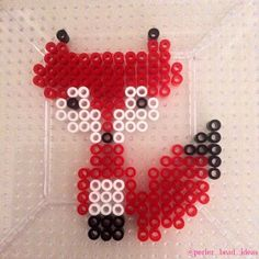 Fox hama perler beads by perler_bead_ideas - Pattern: http://www.pinterest.com/pin/374291419004675068/