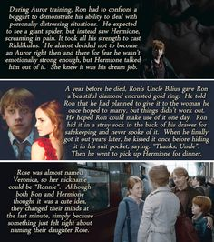 Ron and Hermione headcanons