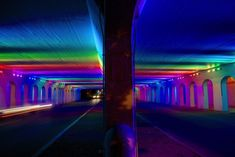 Light Rails is a permanent LED light art installation in Birmingham, Alabama by artist Bill FitzGibbons, as funded by the Community Foundation of Greater Birmingham's Community Catalyst Fund donors in partnership with REV Birmingham. The spectacular spectrum of colors illuminate an underpass at 18th street in downtown Birmingham, adding a brilliant bit of artistic life …