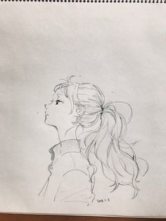 how to drawings Anime Drawings Sketches, Anime Sketch, Cute Drawings, Pencil Drawings, Cartoon Kunst, Cartoon Art, Arte Sketchbook, Anime Art Girl, Aesthetic Art