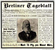 Original-Werbung/ Anzeige 1898 - BERLINER TAGEBLATT - ca. 140 x 120 mm