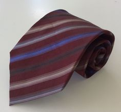 Kenneth Cole Reaction Neck Tie Burgundy Blue Brown Black 100% Silk #KennethColeReaction #NeckTie