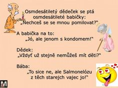 babička s dědečkem Funny Texts, Funny Jokes, Sad Stories, Just For Laughs, Haha, Memes, Quotation, Husky Jokes, Animal Jokes