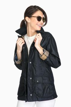 Barbour Barbour® Navy Beadnell Wax Jacket