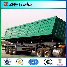 China hot slae Tri-axle 80 tons side dump semi trailer ,Famous brand hydraulic Cylinder Dump Semi Trailer