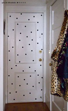 I am going to do this on my bedroom door!  Because I can!  polka dots door #decor #DIY #cool #polkadots