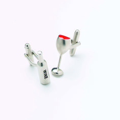Wine Bottle & Goblet Cufflinks