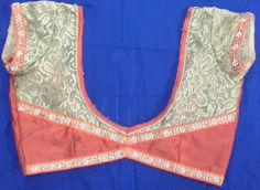 Rawsilk and gold thread work blouse with lace attached 91 9866583602 whatsapp no 7702919644