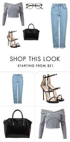 """""""Outfit random"""" by thebestmery on Polyvore featuring Topshop, Giuseppe Zanotti, Givenchy, kpop, gucci e topset"""