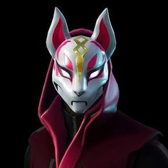 Fortnite Fox Drift - Mask Latex - for Sale Halloween Costume Game Kid / Girl Halloween Costume Game, Game Costumes, Halloween Cosplay, Halloween Masks, Cosplay Helmet, Latex Cosplay, Scary Clown Mask, Scary Clowns, Male Figure Drawing