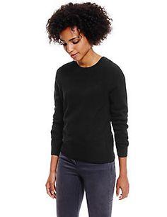 Black Pure Cashmere Jumper