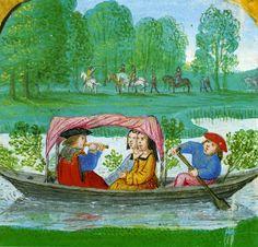 [Clio Team] 1501-1525 Promenade au fil de l'eau, Livre d'Heures à l'usage de Rome, par Simon Beni