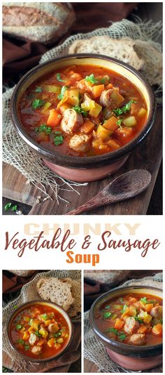 This lower carb hearty and filling soup recipe is packed full of protein and chunky veg.