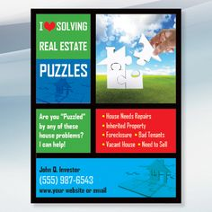 House Puzzle - Real Estate Flyer Design for Investors