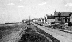 Old photograph of Findhorn, Scotland